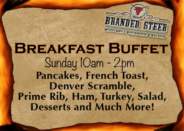 branded steer breakfast buffet